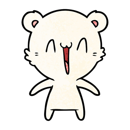 happy polar bear cartoon Illustration