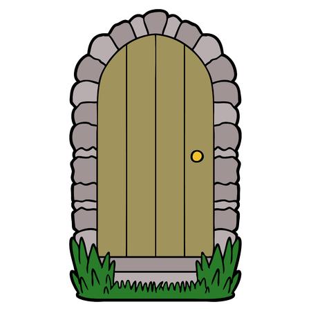 cartoon doorway Stockfoto - 96617794