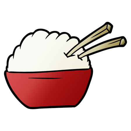 cartoon bowl of rice
