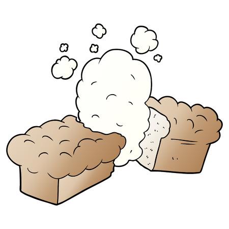 焼きたてのパン漫画のイラスト