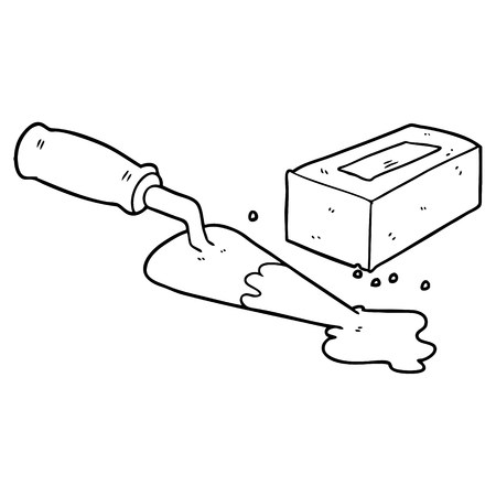 laying bricks cartoon
