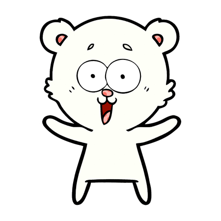 Ijsbeer cartoon Stockfoto - 96617886