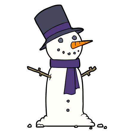 cartoon snowman illustration