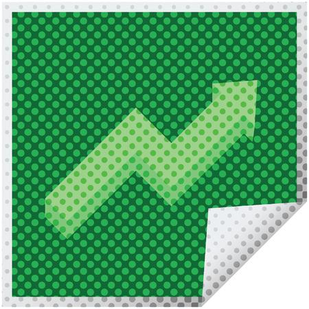 performance arrow graphic vector illustration square sticker