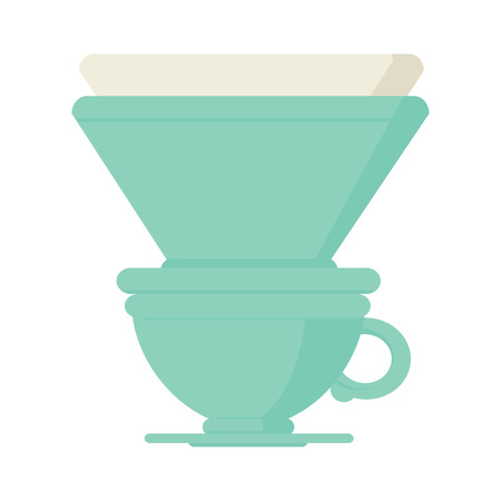Flat colour illustration of a filter coffee cup