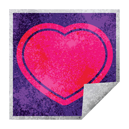 heart graphic vector square peeling sticker