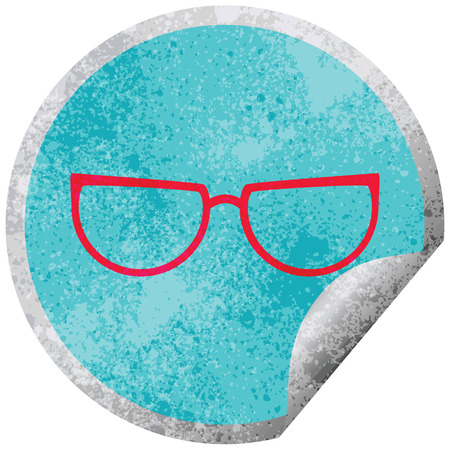 spectacles graphic vector circular peeling sticker Stock Vector - 110127753
