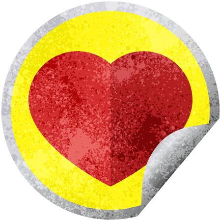 heart symbol graphic vector illustration circular sticker Illustration