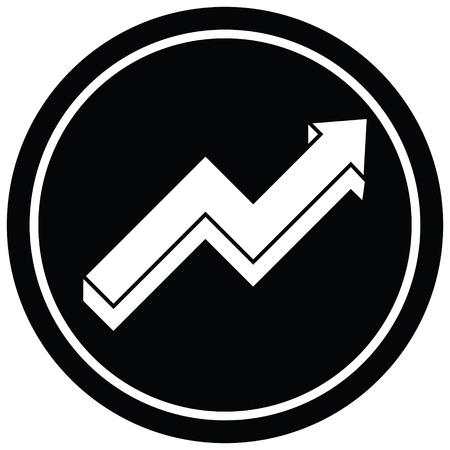 performance arrow graphic vector circular symbol