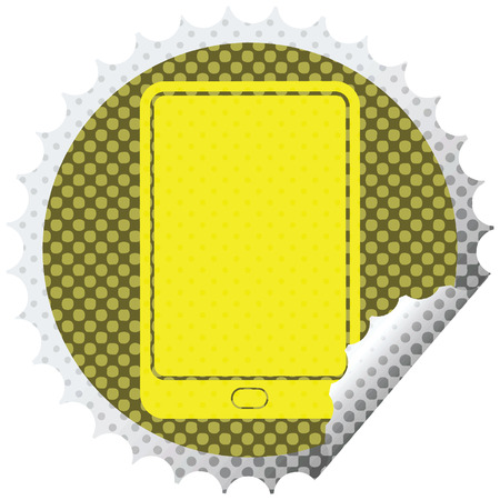 tablet computer vector illustration circular peeling sticker 版權商用圖片 - 110128296