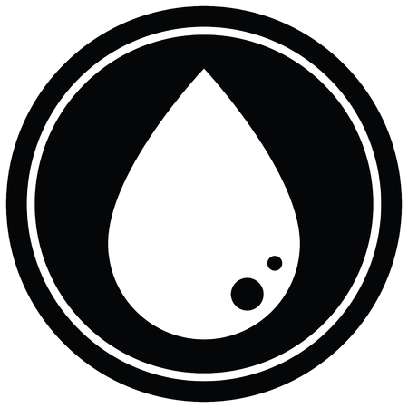 blood drop graphic vector circular symbol