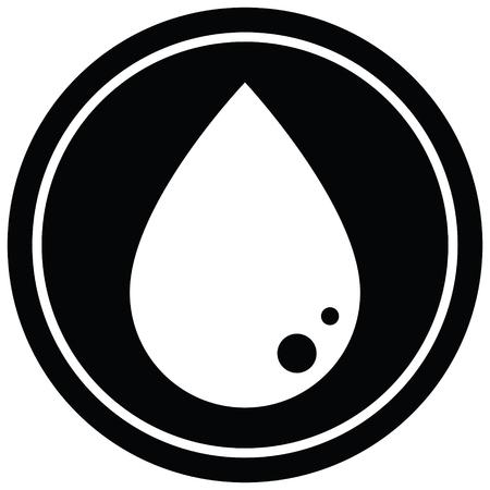 blood drop graphic vector circular symbol