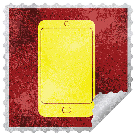 cell phone graphic square peeling sticker Foto de archivo - 110127906