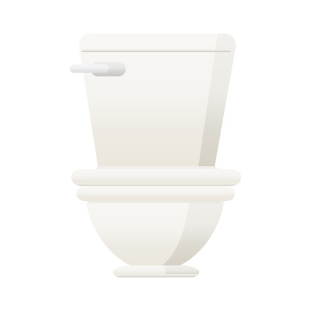 Flat colour illustration of a toilet