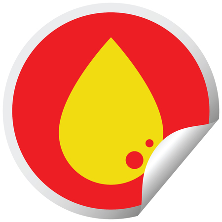 blood drop graphic vector circular peeling sticker
