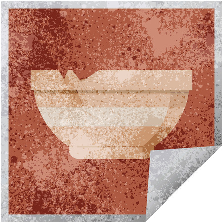 cracked bowl graphic vector illustration square sticker