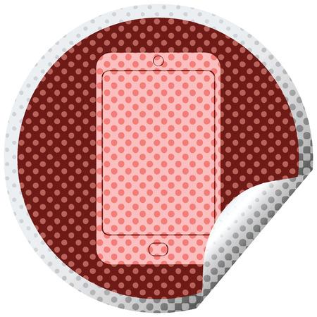 cell phone graphic circular peeling sticker