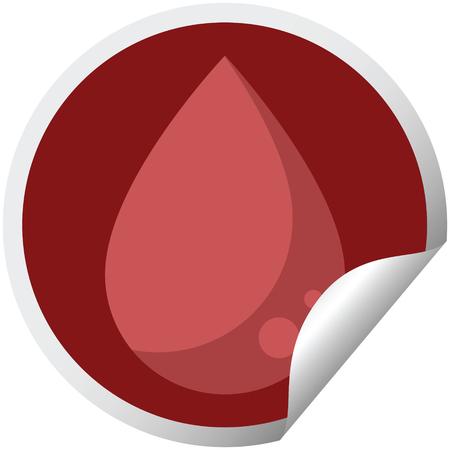 blood drop graphic vector illustration circular sticker