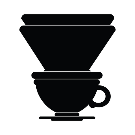 vector icon illustration of a filter coffee cup