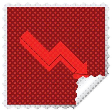 performance arrow graphic vector square peeling sticker Illustration