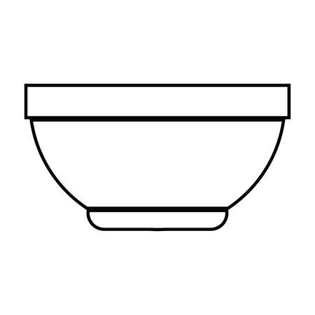 icono de vector ilustración de un tazón Ilustración de vector