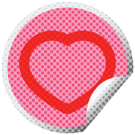 heart graphic vector circular peeling sticker