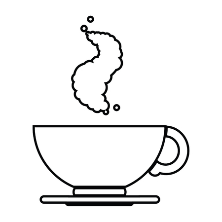 vector icon illustration of a hot cup of coffee Ilustração