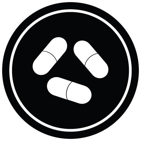 pills vector illustration circular symbol