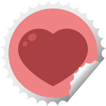 heart symbol graphic vector illustration round sticker stamp 스톡 콘텐츠 - 110422952