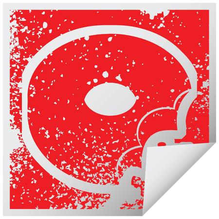 bitten donut graphic vector illustration icon Illusztráció