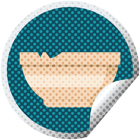 cracked bowl graphic vector illustration circular sticker Illustration