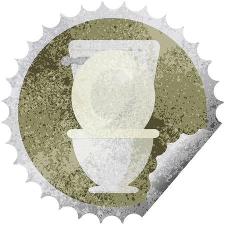 open toilet graphic vector illustration round sticker stamp Stock Vector - 110200543