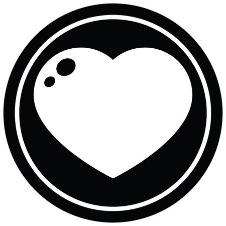 heart symbol graphic vector illustration circular symbol