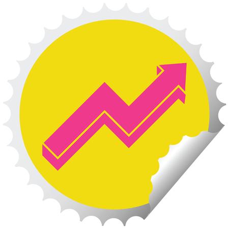 adesivo per peeling circolare con grafica vettoriale freccia di prestazione