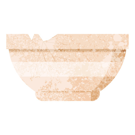 cracked bowl graphic vector illustration icon Illustration