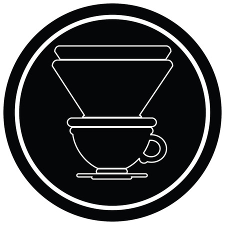 coffee filter cup circular symbol Ilustrace