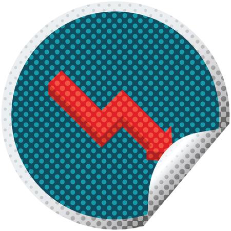 performance arrow graphic vector illustration circular sticker