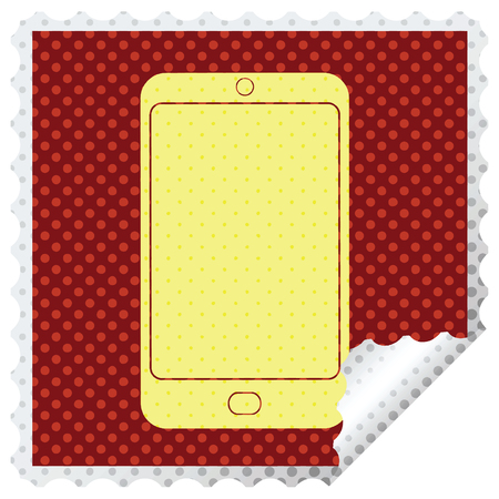 cell phone graphic square peeling sticker