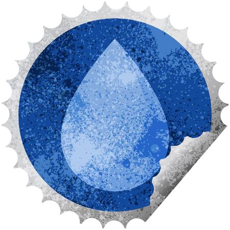 raindrop graphic vector illustration round sticker stamp Illustration