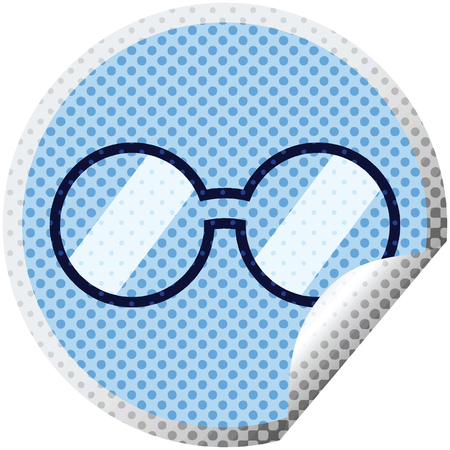 spectacles graphic vector illustration circular sticker