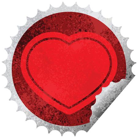 heart graphic vector circular peeling sticker