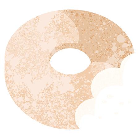 bitten donut graphic vector illustration icon Illustration