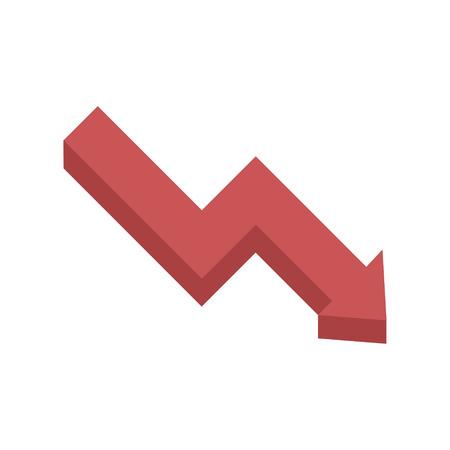 icona dell'illustrazione grafica vettoriale della freccia delle prestazioni Vettoriali