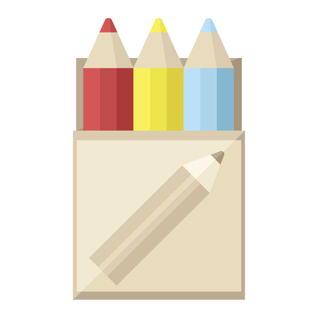 pack of coloring pencils graphic vector illustration icon Illustration