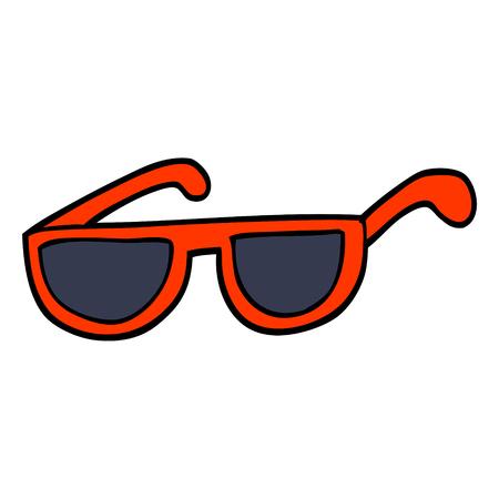 hand drawn doodle style cartoon sunglasses Ilustração