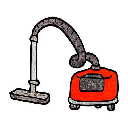grunge textured illustration cartoon vacuum hoover  イラスト・ベクター素材