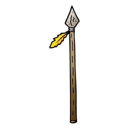 Vektor-Gradienten-Illustration Cartoon langer Speer