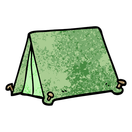 grunge textured illustration cartoon tent