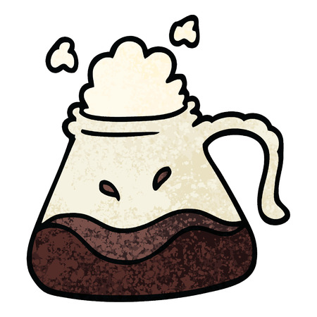 grunge textured illustration cartoon coffee jug 版權商用圖片 - 110423100