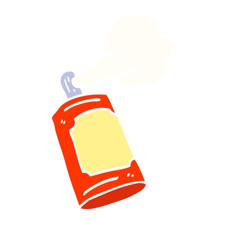 flat color illustration cartoon spray can